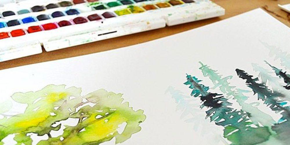 Les caractéristiques de la peinture aquarelle